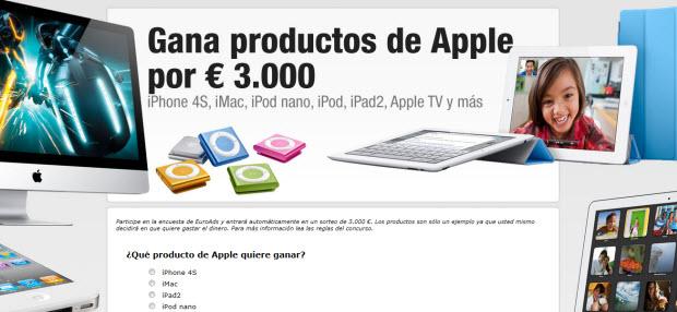 Sorteo de productos Apple