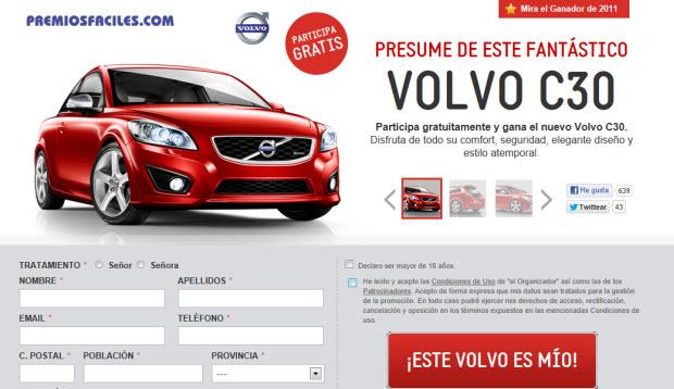 Sorteo de un Volvo