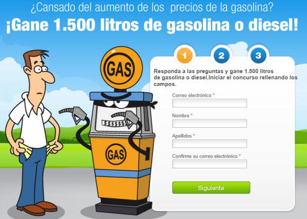 Sorteo de gasolina gratis