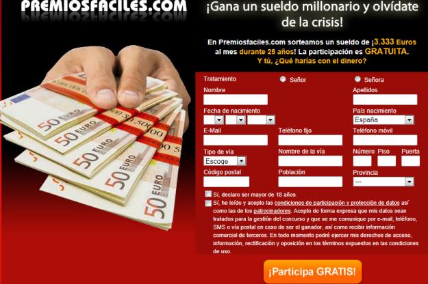 Apuntarse a sorteos online