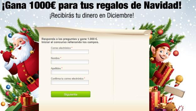 Sorteo 1000 euros por navidad