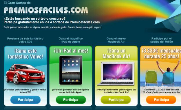 Sorteo Ipad 3 gratis en Premiosfaciles