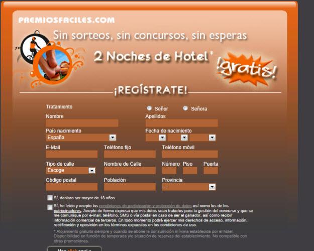 Sorteo de estancias de hotel gratis