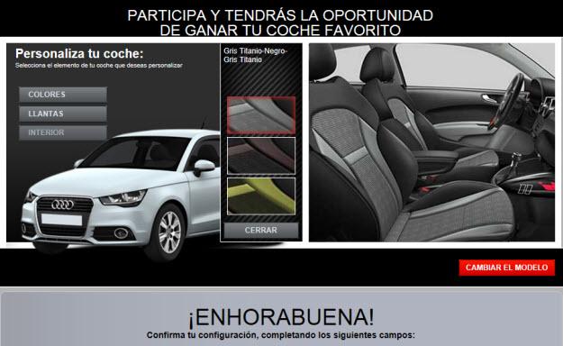 Sorteo Audi A1 en Adsalsa