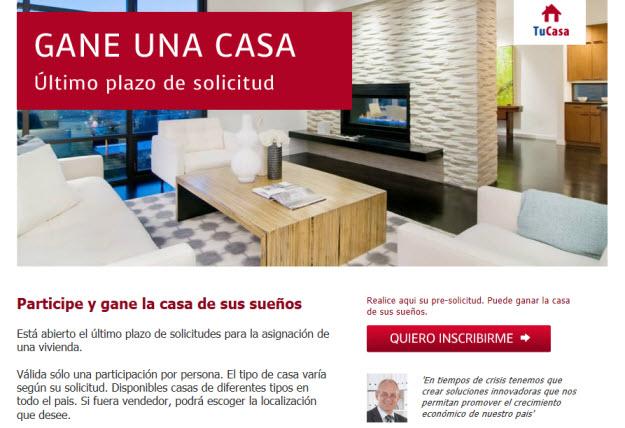Sorteo casa en Madrid