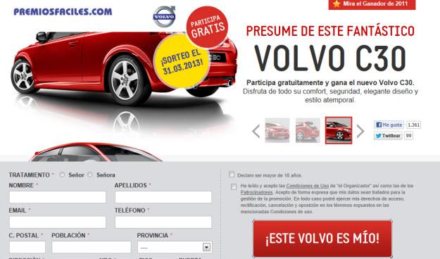 Sorteos de coches online Volvo