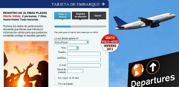 Cómo participar en sorteos Travel Free