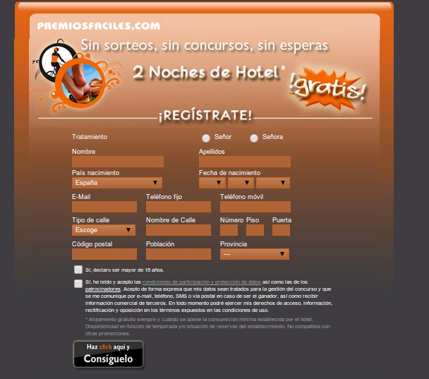 Noches de hotel en los concursos gratis online