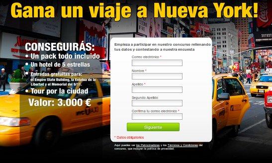 Participa gratis en el sorteo viaje Nueva York