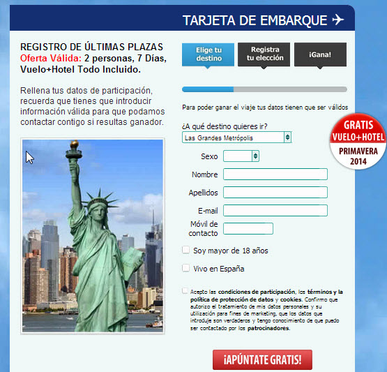 oferta vuelos 2014