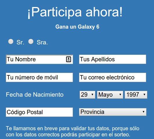 Concurso Samsung Galaxy S6