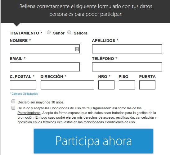Concurso iPhone 6 gratis