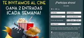 Sorteo entradas de cine gratis: concurso online
