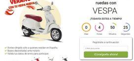 Sorteo Vespa gratis: condiciones y requisitos de participación