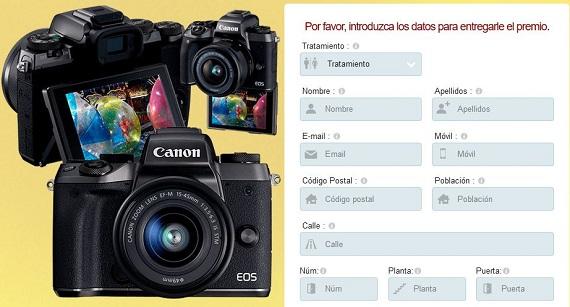 sorteo cámara de fotos online