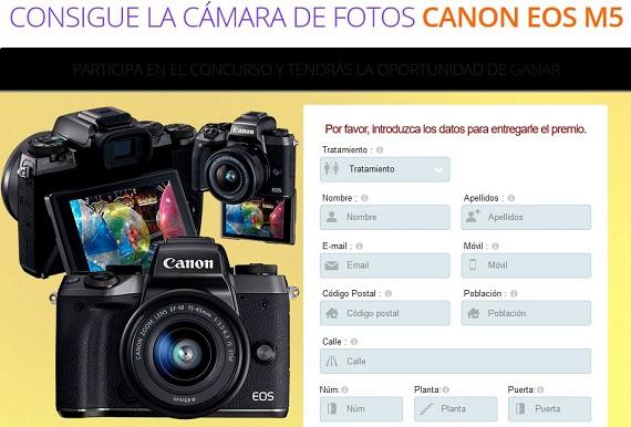 sorteo cámara de fotos